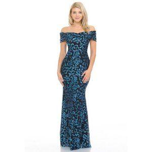 Lenovia Dresses - Off the Shoulder Paisley Sequin Formal Dress